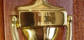 Quill & Brush Door Knocker