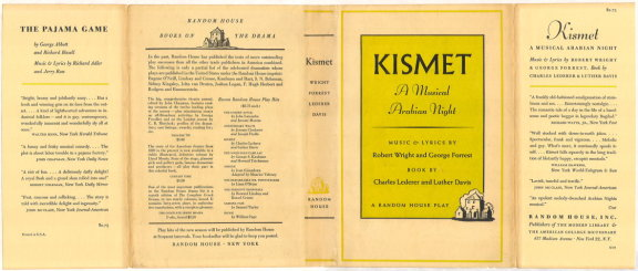 KISMET: A Musical Arabian Night. Charles Lederer, Luther Davis.