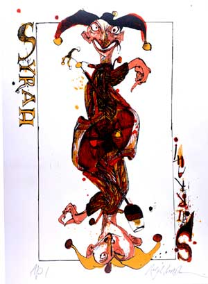 SYRAH SIRRAH: Limited Edition, Signed Silkscreen Print. Ralph Steadman.