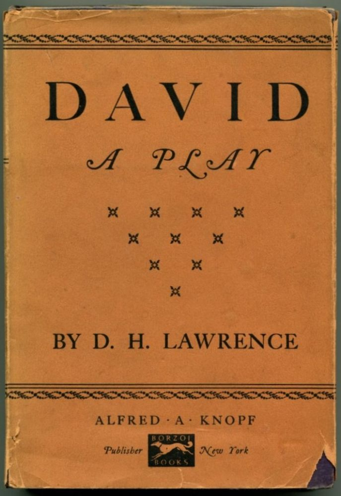 DAVID A Play. D. H. Lawrence.