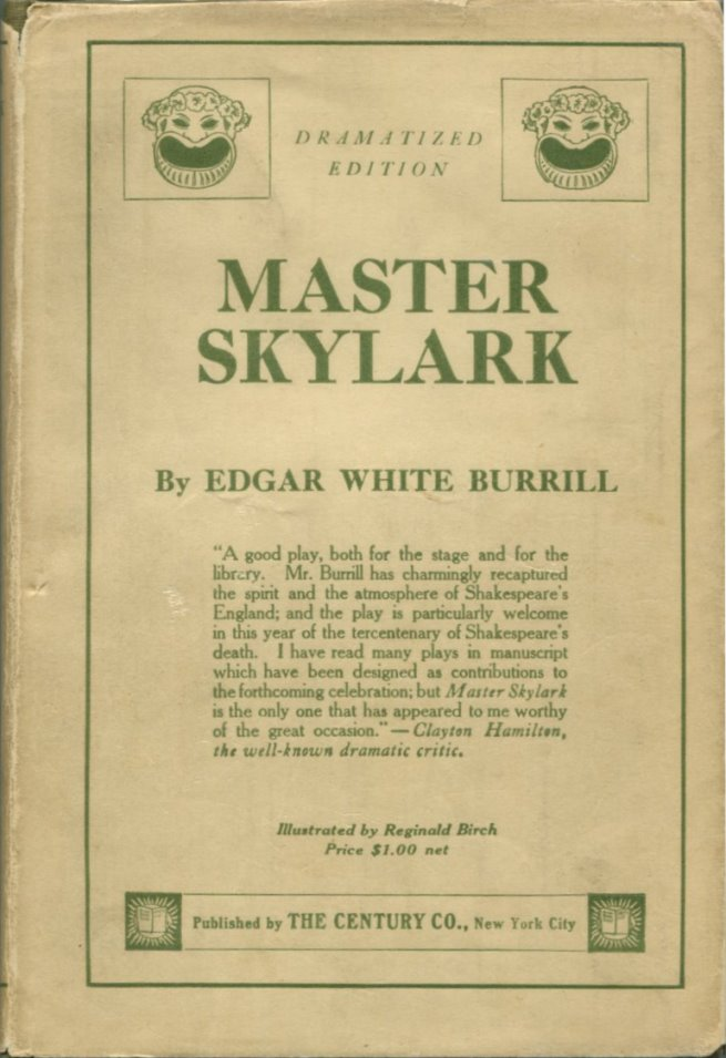 MASTER SKYLARK Or Will Shakespeare's Ward.