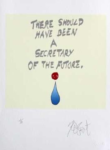 "CONFETTI #44: ""There should have been . . . ""; Limited Edition, Signed Silkscreen Print. Kurt Vonnegut."