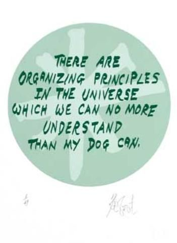 "CONFETTI #48: ""There are organizing principles in the universe . . . ""; Limited Edition, Signed Silkscreen Print. Kurt Vonnegut."