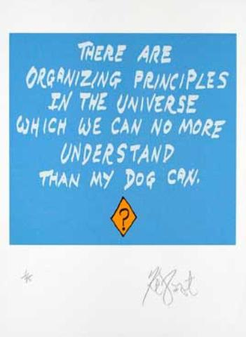 "CONFETTI #49: ""There are organizing principles in the universe . . . ""; Limited Edition, Signed Silkscreen Print."