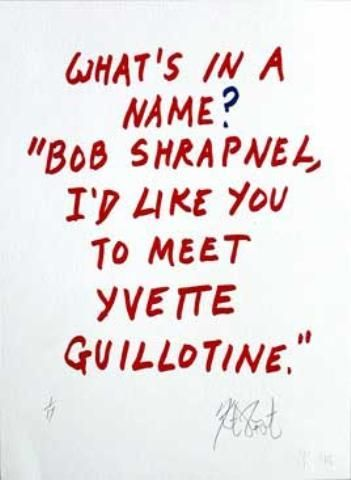 "CONFETTI #51: ""What's in a name? . . . ""; Limited Edition, Signed Silkscreen Print. Kurt Vonnegut."