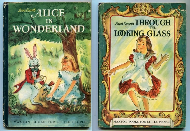 ALICE IN WONDERLAND and THROUGH THE LOOKING GLASS: Two volumes. Lewis Carroll, Roselle Ross.