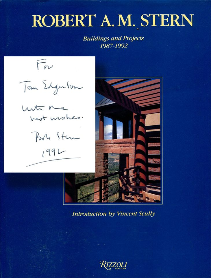ROBERT A. M. STERN: Buildings and Projects 1987-1992. Robert A. M. Stern, introduction, Vincent Scully.