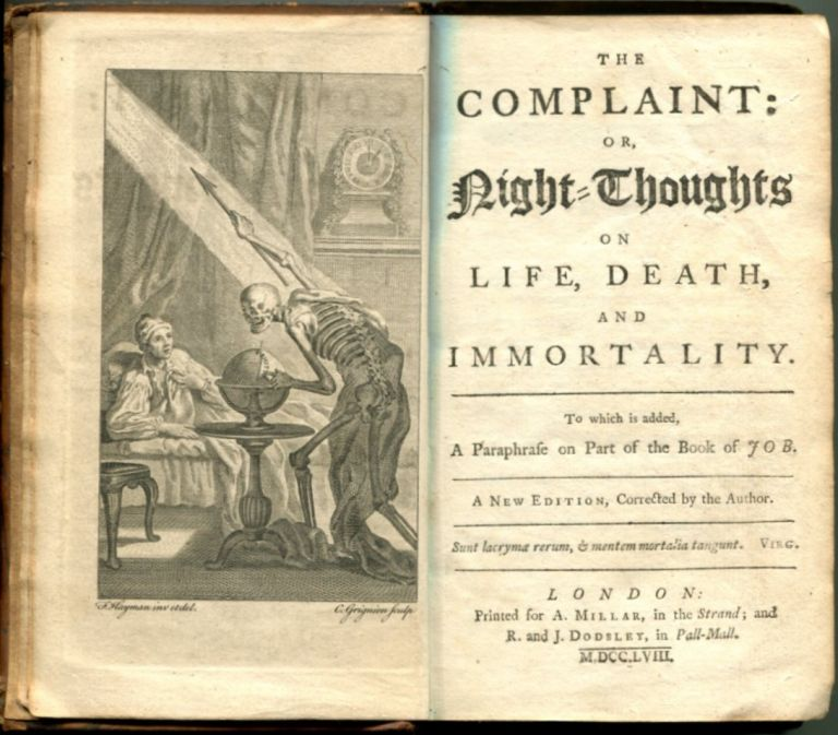THE COMPLAINT; or, NIGHT-THOUGHTS ON LIFE, DEATH AND IMMORTALITY.