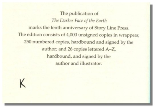 THE DARKER FACE OF THE EARTH: A Verse Play in Fourteen Scenes.