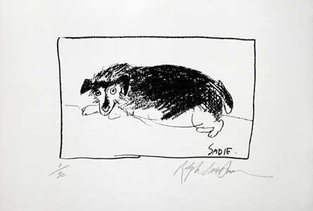 SADIE: Limited Edition, Signed Silkscreen Print. Ralph Steadman.
