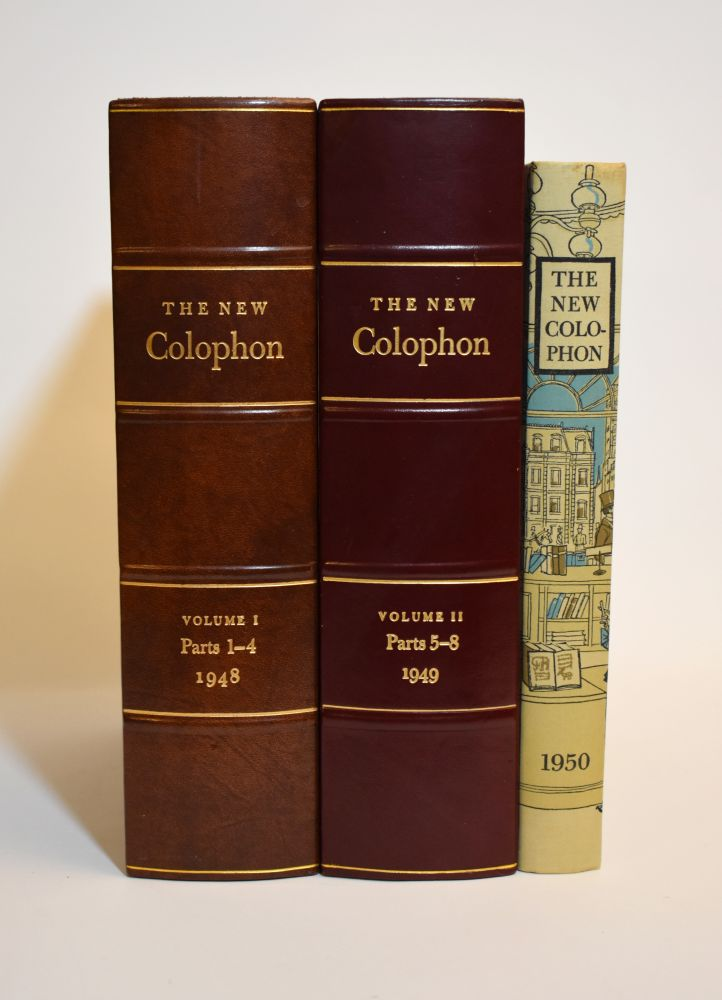 THE NEW COLOPHON. Books on Books.