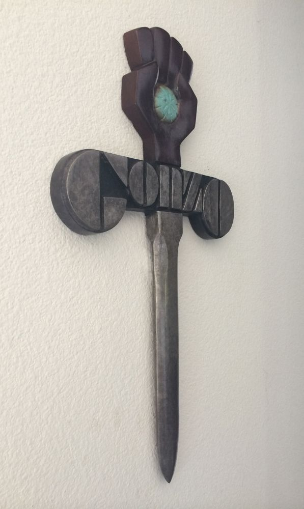 GONZO SWORD: Hand-cast in bronze.