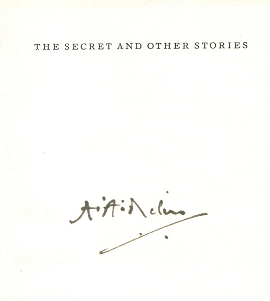 THE SECRET: And Other Stories. A. A. Milne.