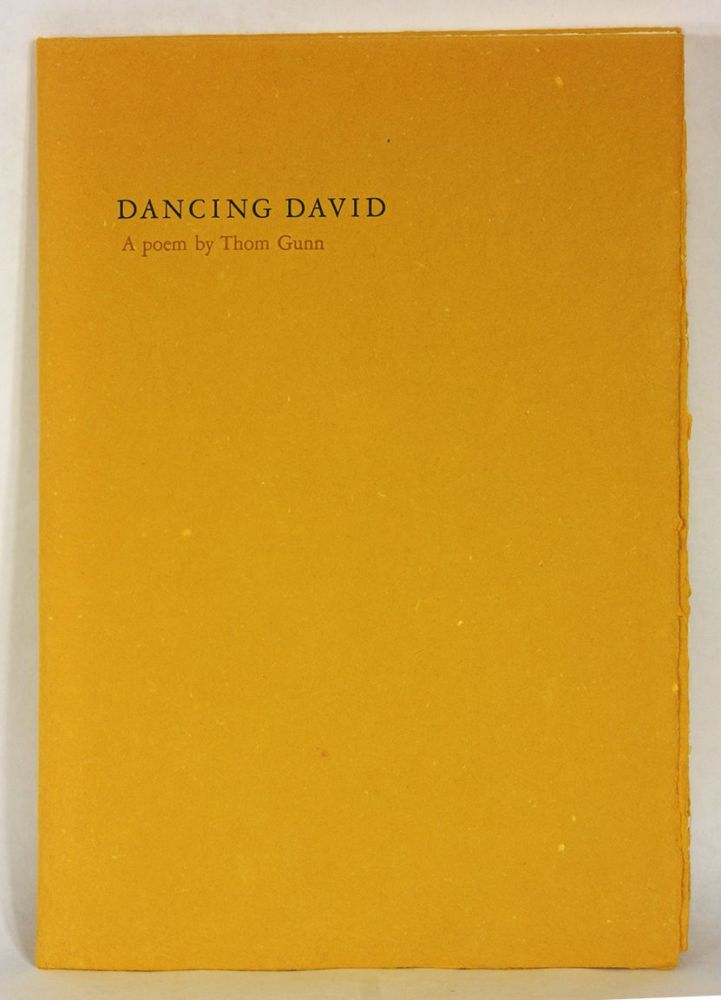 DANCING DAVID. Thom Gunn, illustrations, Dorothea Tanning.