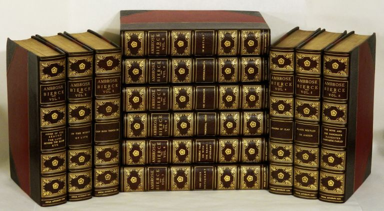 THE COLLECTED WORKS OF AMBROSE BIERCE: Volumes I - XII; Though not called for, all twelve volumes signed by Bierce. Ambrose Bierce.