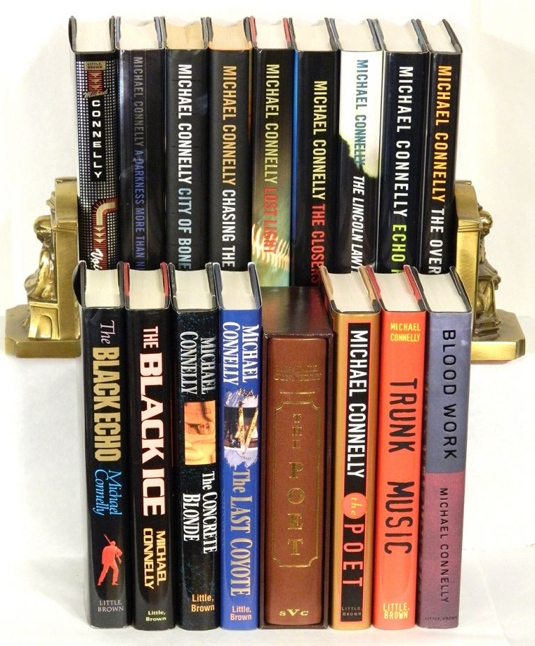 A COLLECTION OF HIS EARLY WORK [14 VOLUMES]: The Black Echo; The Black Ice; The Concrete Blonde; The Last Coyote; The Poet (2 cc); Trunk Music; Blood Work; Void Moon; A Darkness More Than Night; City Of Bones; Chasing the Dime; Lost Light; The Closers; The Lincoln Lawyer; Echo Park. Michael Connelly.