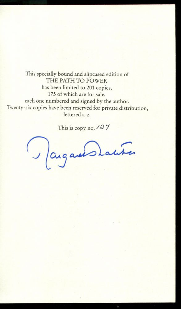 THE PATH TO POWER. Margaret Thatcher.