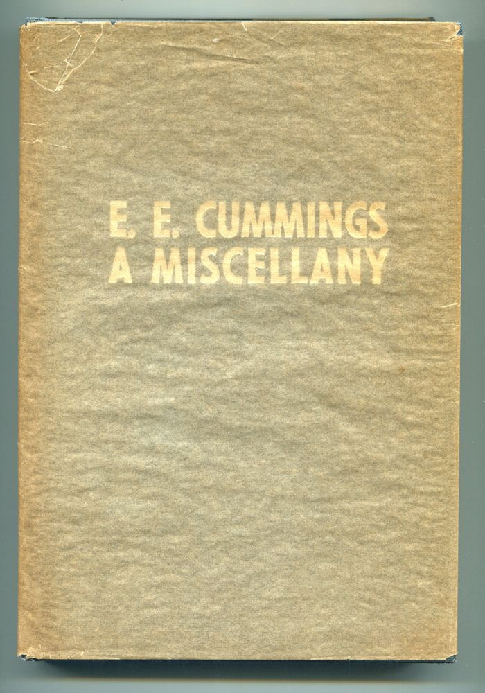 A MISCELLANY. E. E. Cummings, George J. Firmage.