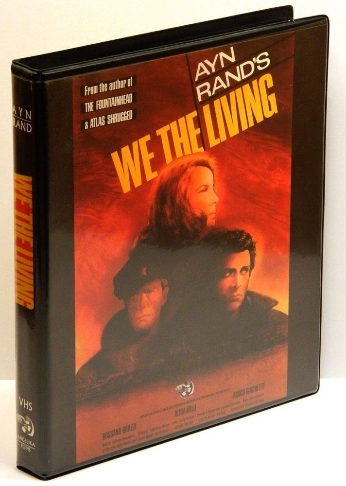 WE THE LIVING: The 1942 Italian Film Adaptation on VHS Double-Cassette in Clamshell Case with Promotional Materials. Ayn Rand.