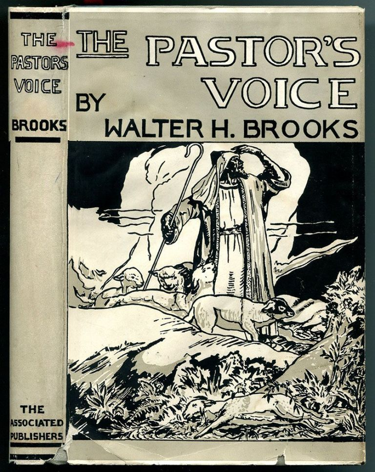 THE PASTOR'S VOICE: A Collection of Poems. Walter Henderson Brooks, intro C. G. Woodson, dust jacket, James Amos Porter.