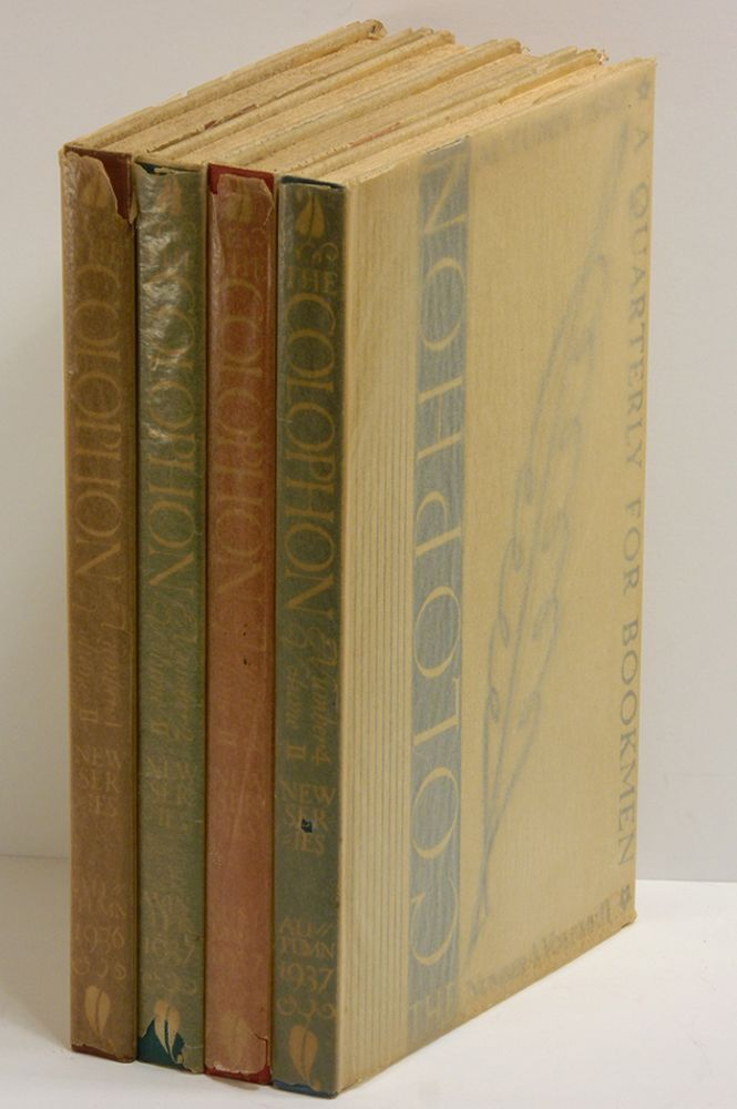 THE COLOPHON NEW SERIES [4 volumes]: A Quarterly for Bookmen, Volume II, Numbers 1 - 4. Books on Books.