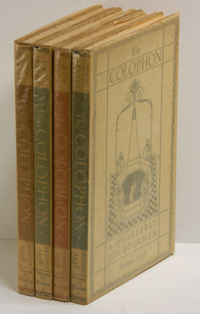 THE COLOPHON NEW SERIES [4 volumes]: A Quarterly for Bookmen, Volume III, Numbers 1 - 4. Books on Books.