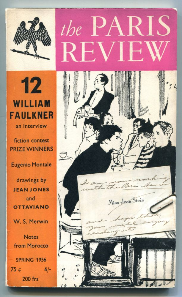 THE PARIS REVIEW 12: Association copy with Stein's inscribed calling card paper-clipped to front cover. William Faulkner, Jean Stein.