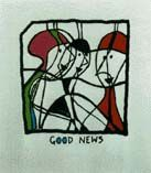 """GOOD NEWS"": Limited Edition, Signed Silkscreen Print. Kurt Vonnegut"