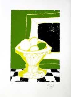 """STILL LIFE"": Limited Edition, Signed Silkscreen Print. Kurt Vonnegut."