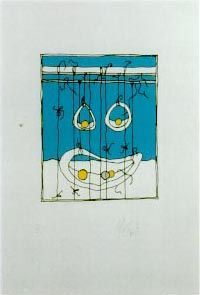 """STRINGS"": Limited Edition, Signed Silkscreen Print. Kurt Vonnegut."