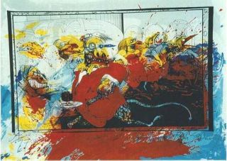 """LIZARD LOUNGE"": Limited Edition, Signed Silkscreen Print. Ralph Steadman, Hunter S. Thompson."