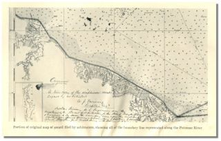 REPORT ON THE LOCATION OF THE BOUNDARY LINE ALONG THE POTOMAC RIVER BETWEEN VIRGINIA AND MARYLAND.