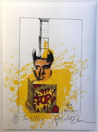 THE KING: Limited Edition, Signed Silkscreen Print. Ralph Steadman, Elvis Presley
