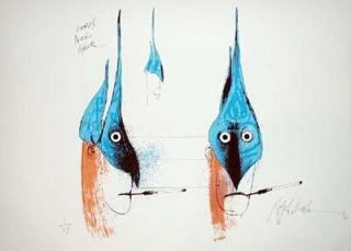 LONO'S MARLIN MASK: Limited Edition, Signed Silkscreen Print. Ralph Steadman, Hunter S. Thompson.