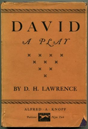 DAVID A Play. D. H. Lawrence
