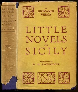 LITTLE NOVELS OF SICILY. D. H. Lawrence, Giovanni Verga.