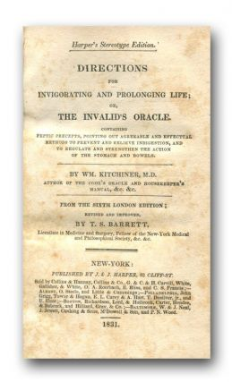DIRECTIONS FOR INVIGORATING AND PROLONGING LIFE; Or, THE INVALID'S ORACLE.