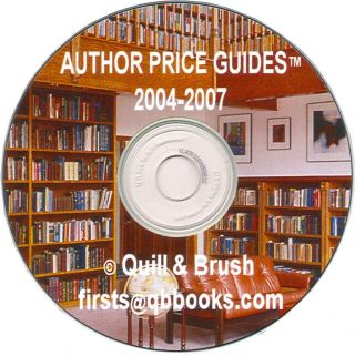 AUTHOR PRICE GUIDES The Complete Set on CD (219 Guides