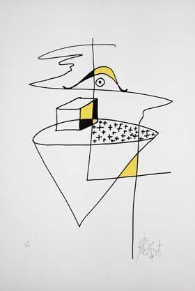"""SPEECHLESS"": Limited Edition, Signed Silkscreen Print. Kurt Vonnegut."