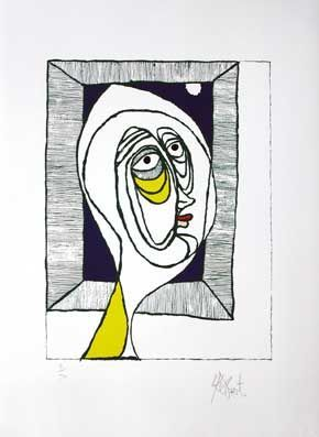 """ANNE"": Limited Edition, Signed Silkscreen Print. Kurt Vonnegut."