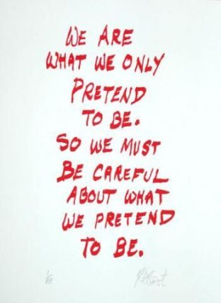 "CONFETTI #4: ""We are what we only pretend to be . . .""; Limited Edition, Signed Silkscreen Print. Kurt Vonnegut, Jr."