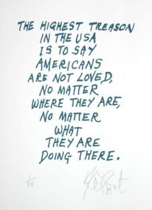 "CONFETTI #13: ""The highest treason in the USA is . . .""; Limited Edition, Signed Silkscreen Print. Kurt Vonnegut, Jr."
