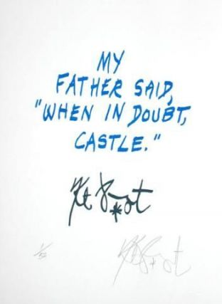 "CONFETTI #21: ""My father said . . .""; Limited Edition, Signed Silkscreen Print. Kurt Vonnegut."