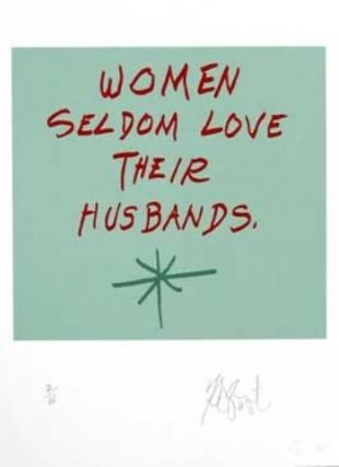 "CONFETTI #42: ""Women seldom love their husbands.""; Limited Edition, Signed Silkscreen Print. Kurt Vonnegut, Jr."