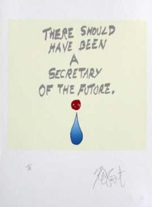 "CONFETTI #44: ""There should have been . . . ""; Limited Edition, Signed Silkscreen Print. Kurt Vonnegut, Jr."