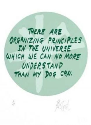 "CONFETTI #48: ""There are organizing principles in the universe . . . ""; Limited Edition, Signed Silkscreen Print. Kurt Vonnegut, Jr."