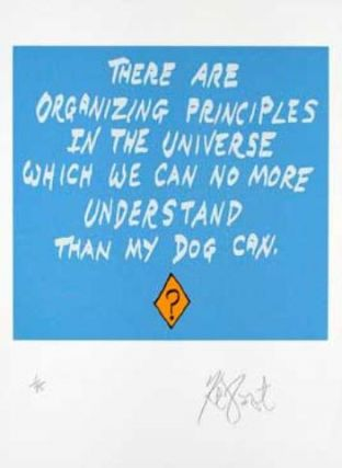 "CONFETTI #49: ""There are organizing principles in the universe . . . ""; Limited Edition, Signed Silkscreen Print. Kurt Vonnegut."