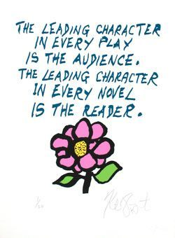 "CONFETTI #66: ""The leading character in every play is the audience . . . ""; Limited Edition, Signed Silkscreen Print."
