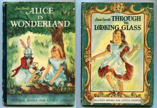 ALICE IN WONDERLAND and THROUGH THE LOOKING GLASS: Two volumes. Lewis Carroll, Roselle Ross