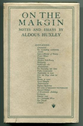 ON THE MARGIN. Aldous Huxley.